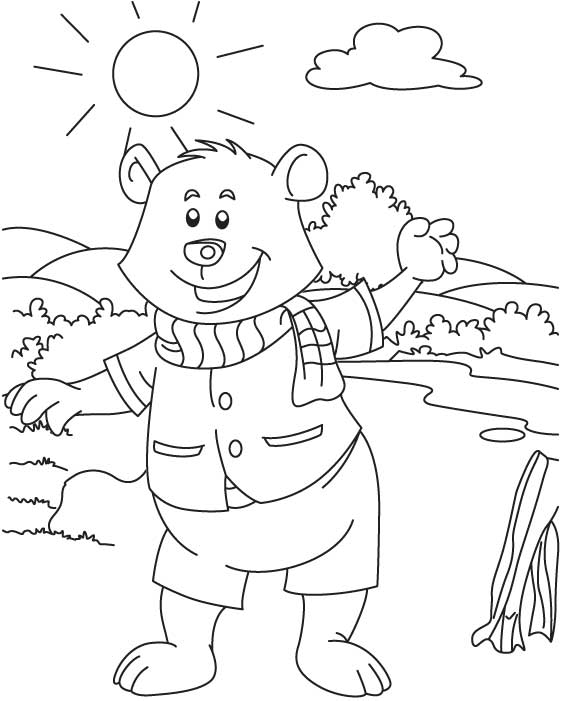 Golu bear coloring page