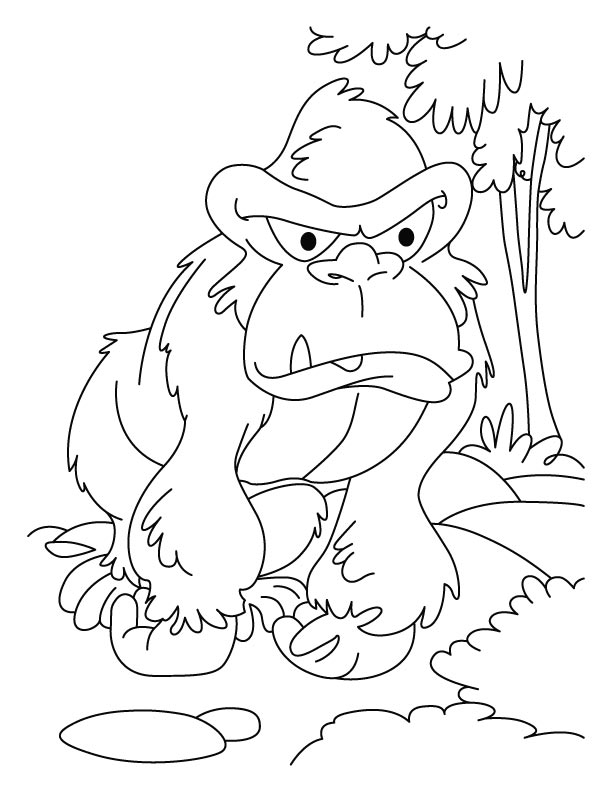 Angry gorilla coloring pages Download Free Angry gorilla