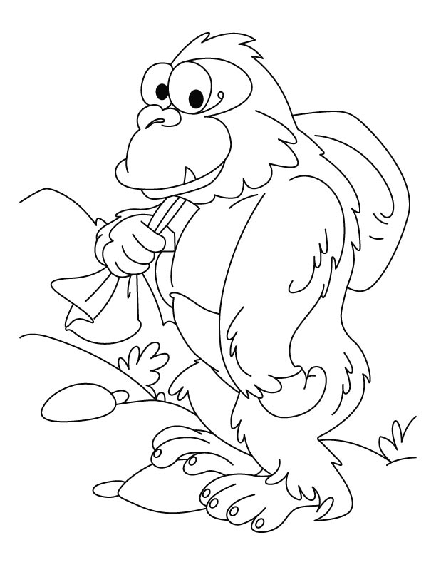Mountain gorilla coloring pages Download Free Mountain