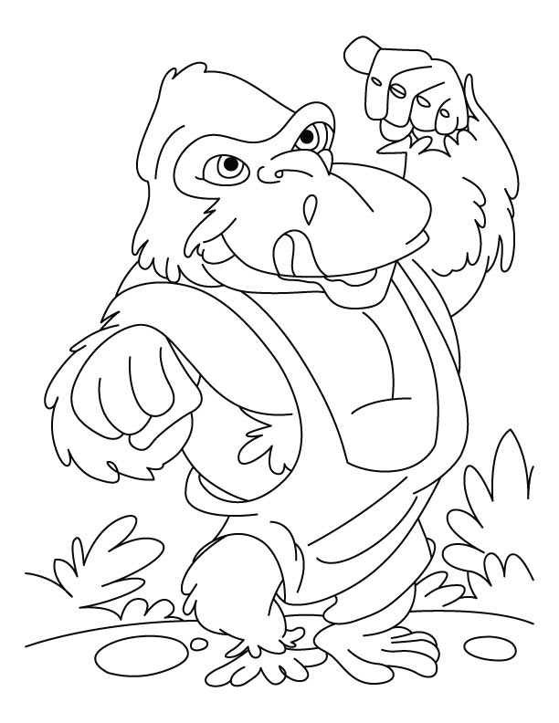 Karate kid gorilla coloring pages Download Free Karate