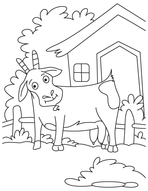 Great goat coloring page