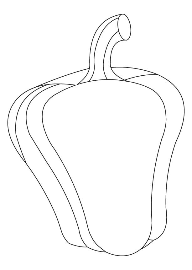 Green capsicum coloring pages