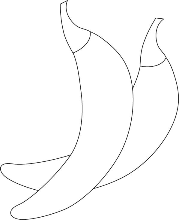 Green chillies coloring page