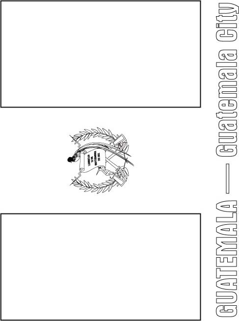 Guatemala Coat Of Arms Coloring Page