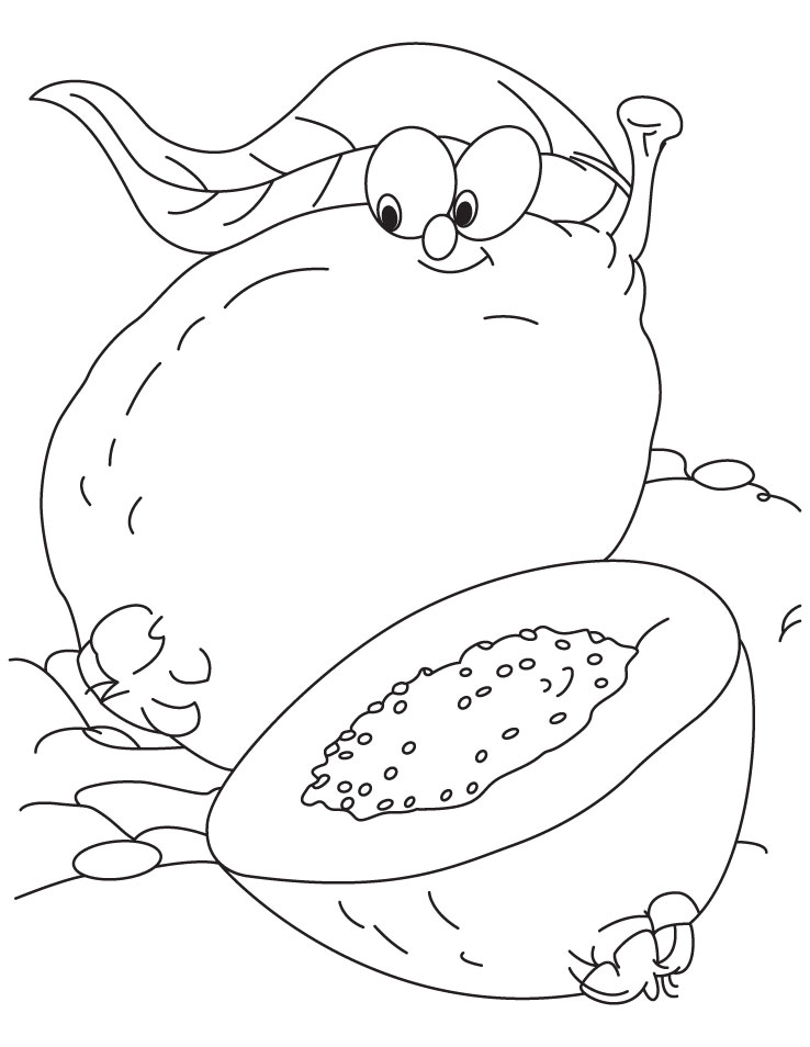 Guava Coloring Page Download Free Guava Coloring Page