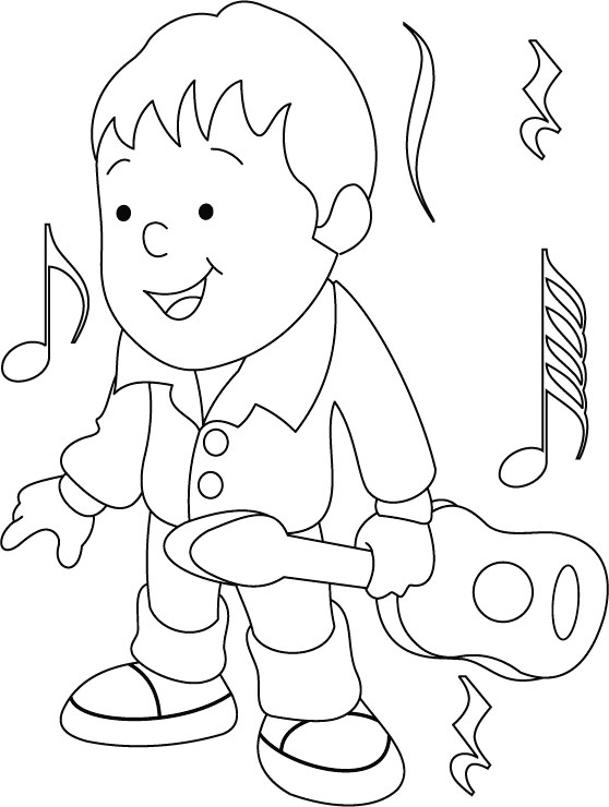 Guitar coloring page Download