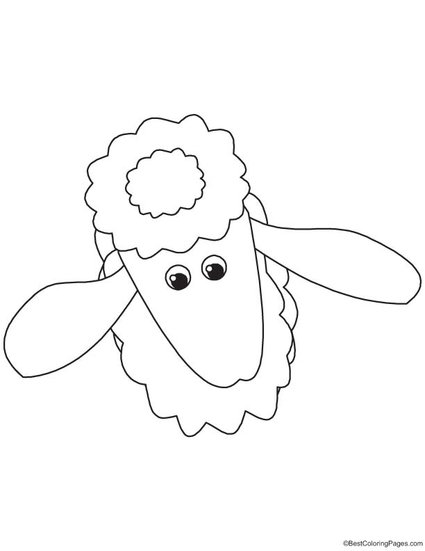Hairy sheep coloring page