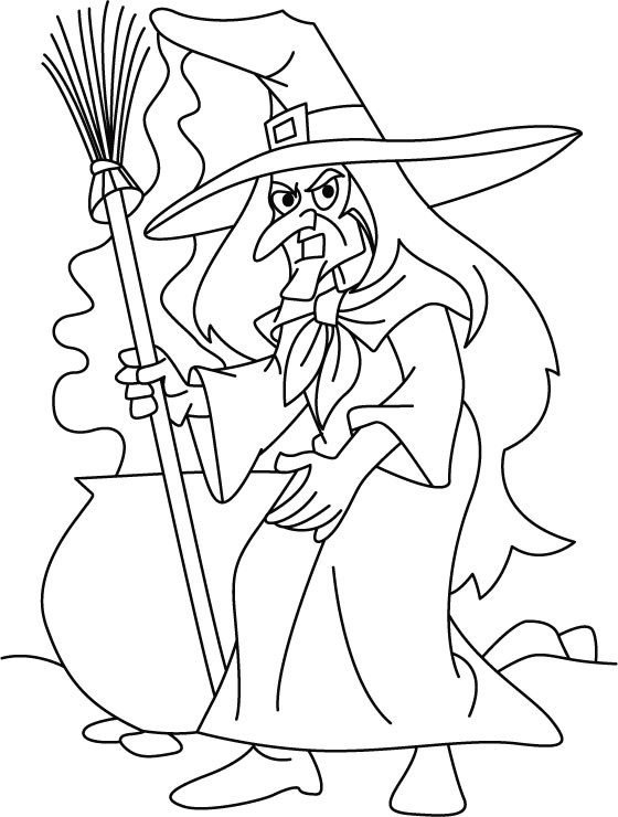 Halloween is ready for her nightly mission coloring pages