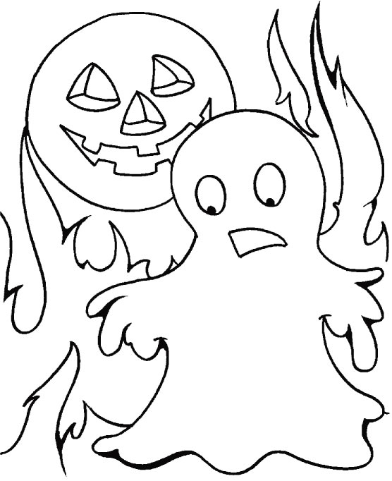 Halloween bhoot coloring pages
