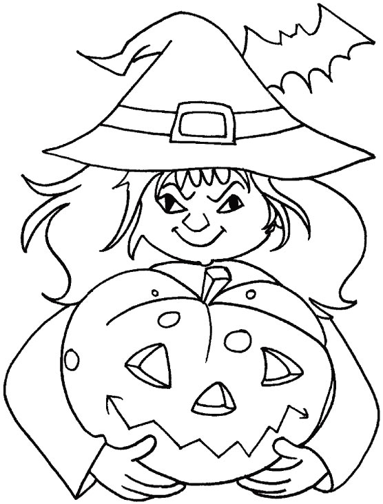 Lets have some fun for Halloween coloring pages