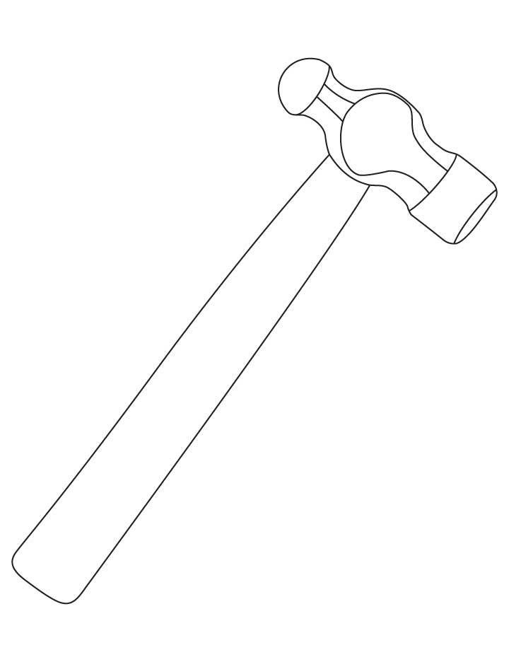 coloring pages hammer | Hammer coloring pages | Download Free Hammer coloring ...