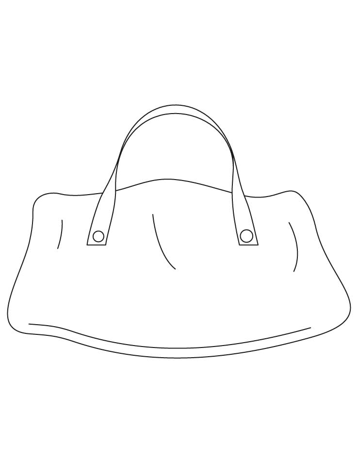 Hand bag coloring pages | Download Free Hand bag coloring pages for ...