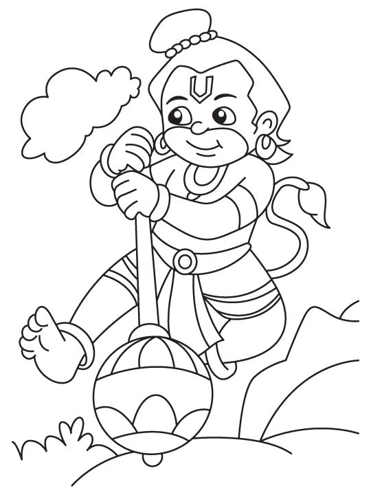 Lord Hanuman Coloring Pages Coloring Pages