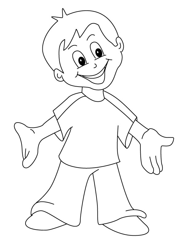 happy children coloring pages - photo#30