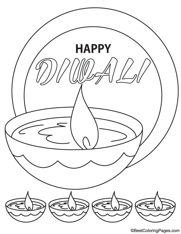 Happy diwali coloring page Download Free Happy diwali coloring