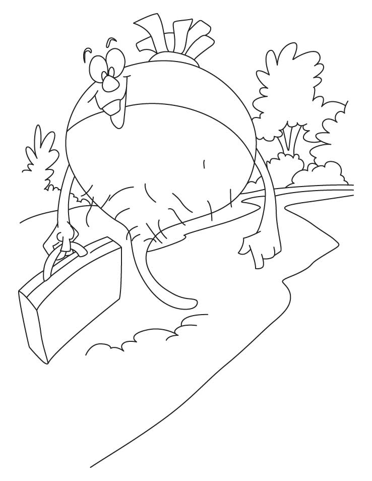 Healthy turnip coloring page