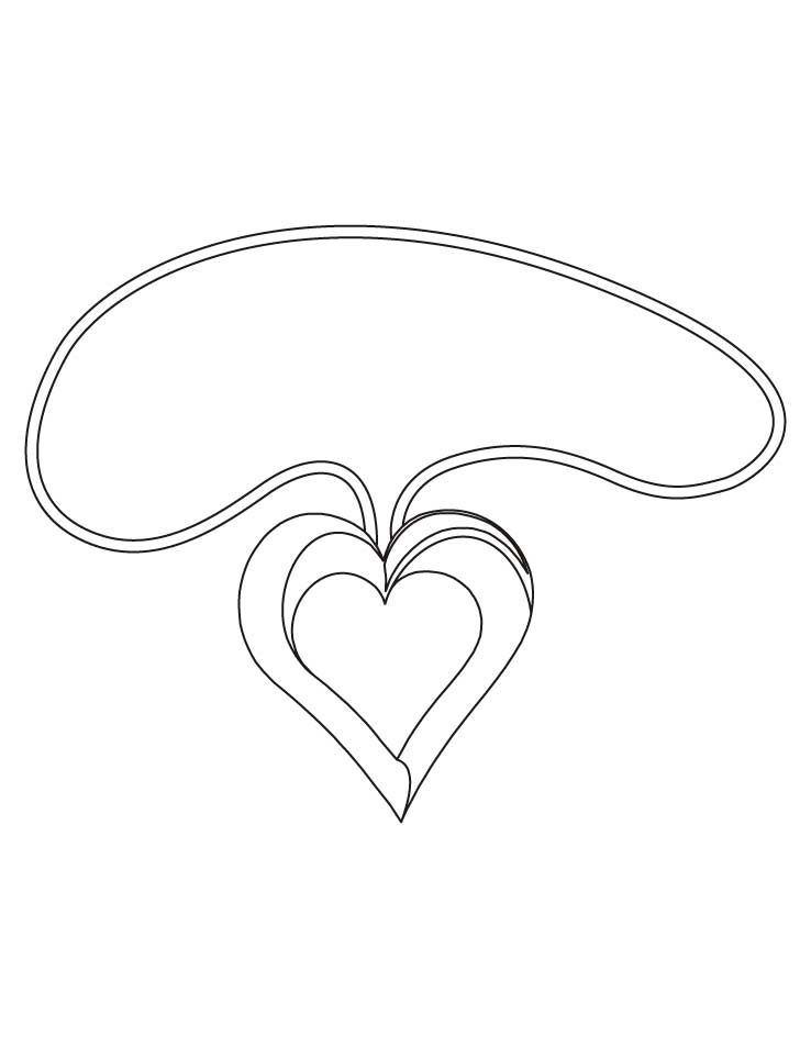 Heart shaped pendant coloring pages