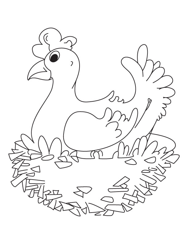 Dewa coop free printable hen house plans for The little red hen coloring page