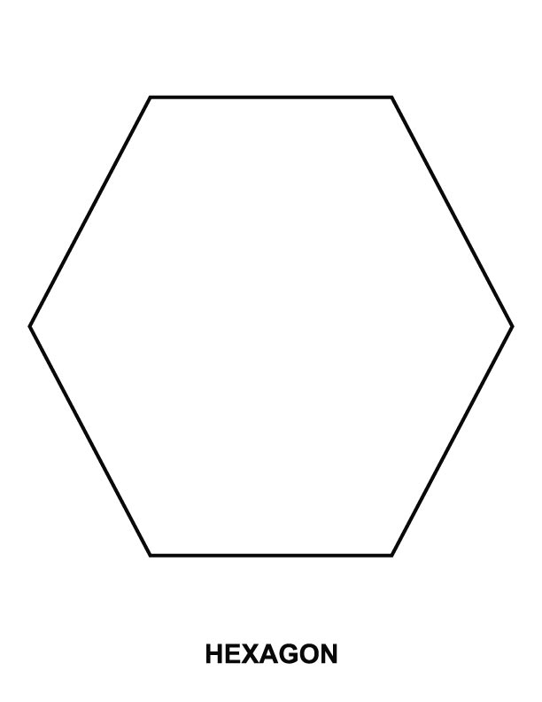 Hexagon Printable Coloring Pages Hexagon Coloring Page
