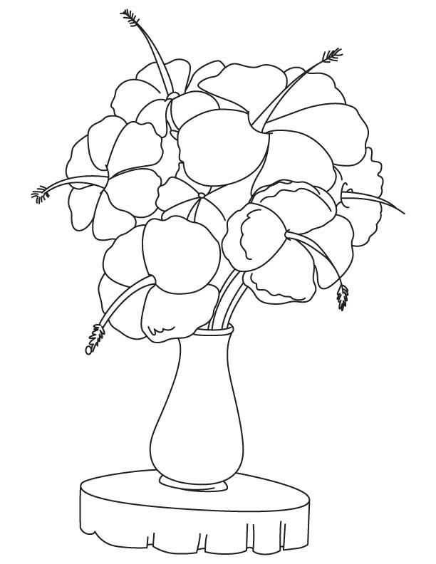 Worksheet. Hibiscus flower vase coloring page  Download Free Hibiscus flower