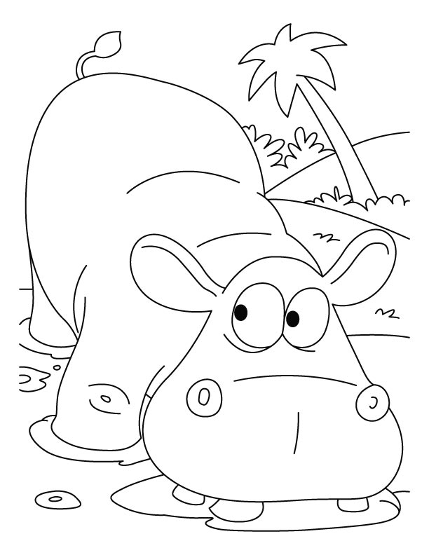 Scared Hippopotamus Coloring Pages Download Free Scared Hippo Coloring Page
