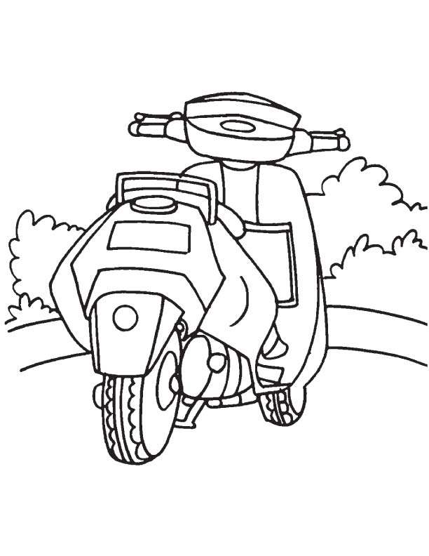 honda scooter coloring page