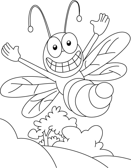 honey bee coloring pages - photo #28