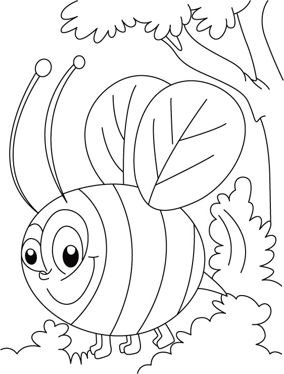 Honey bee busy in squeeze coloring pages Download Free Honey bee