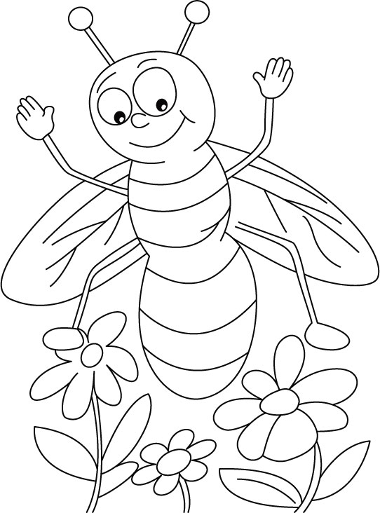 Jasmine or Lavender, honeybee everywhere coloring pages