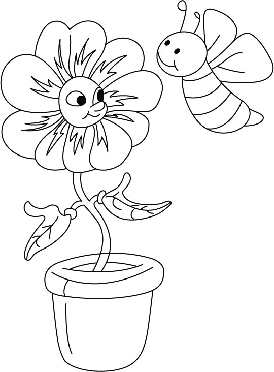 Bloom n honeybee coloring pages