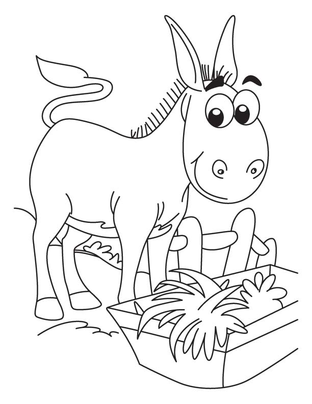 Honking donkey coloring page download free honking for Donkey coloring pages free