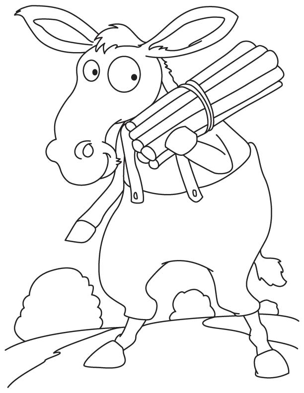 Horse family member coloring page