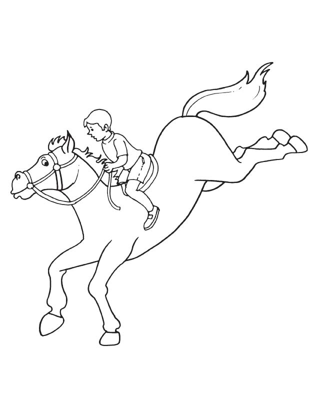 Horse jumping the hurdles coloring page | Download Free Horse ...