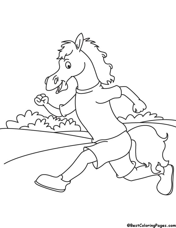 horse race coloring pages - photo#25