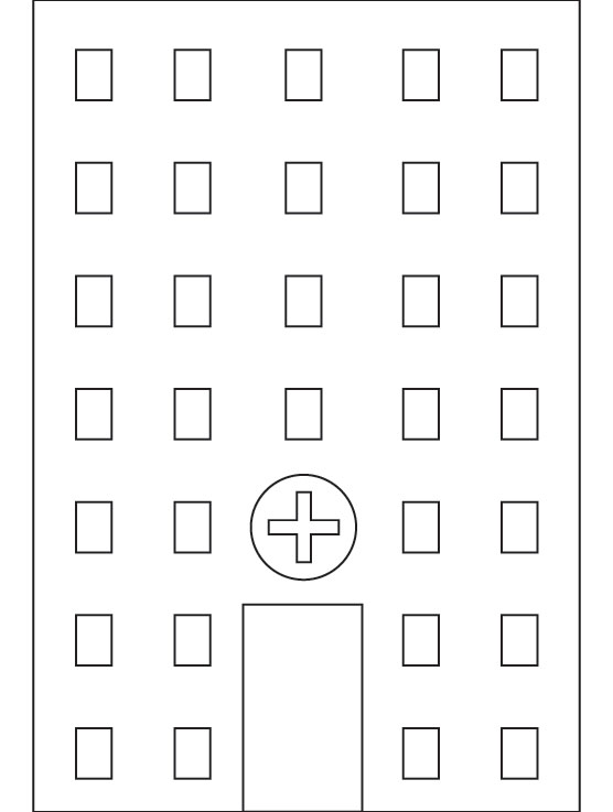 Hospital coloring page Download Free Hospital coloring page for