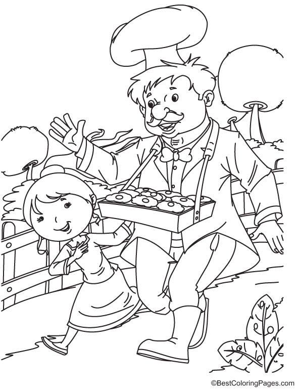 Hot Cross Bun Nursery Rhymes Coloring Page