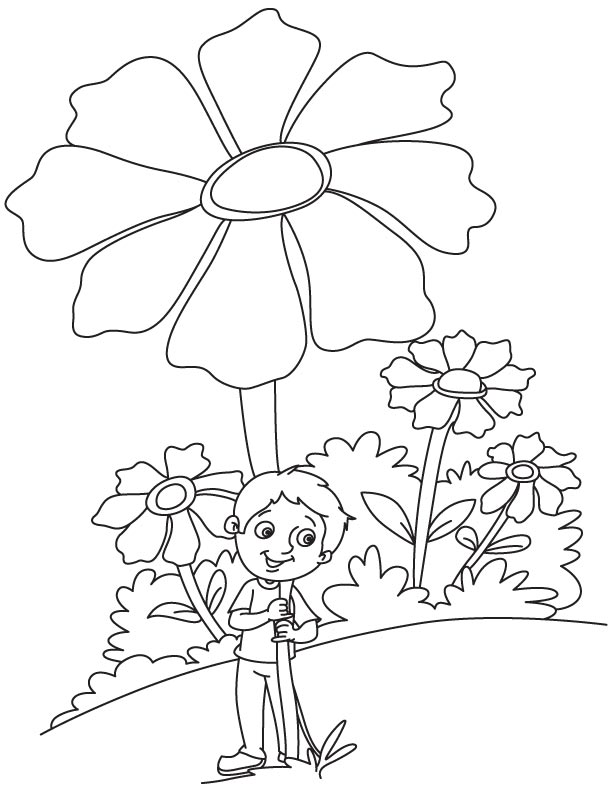 Huge cosmos coloring page
