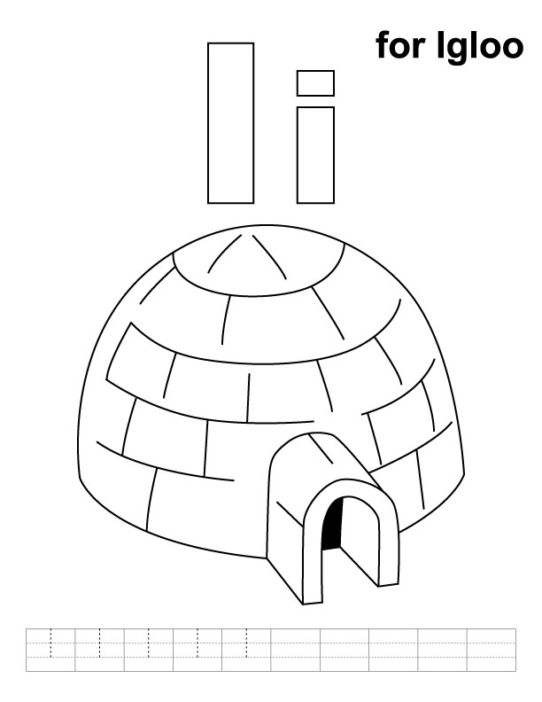 free printable igloo coloring pages - photo#31