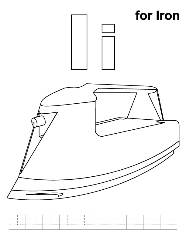 free coloring pages of clothes iron