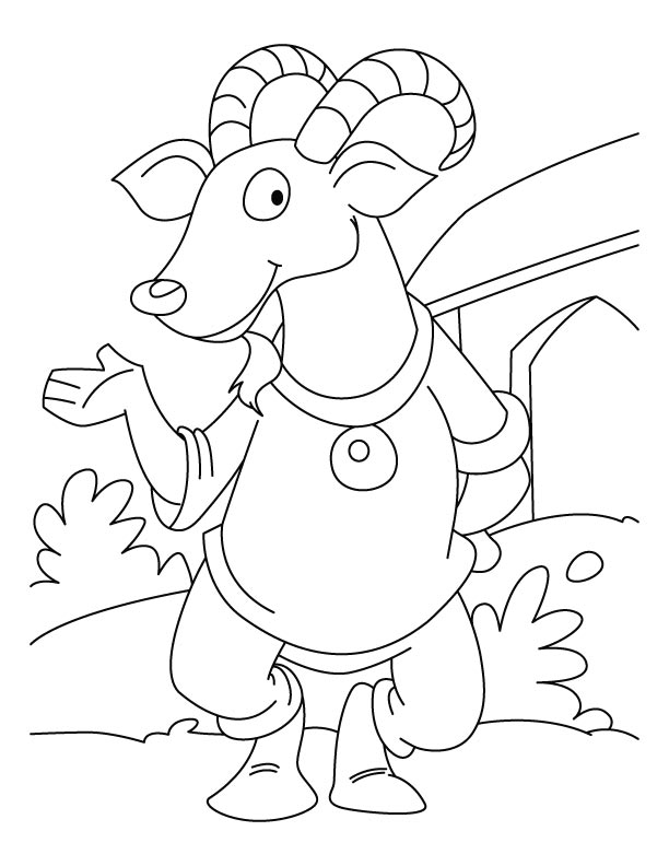 Funny ibex coloring pages
