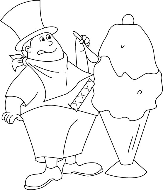Ice cream maker coloring pages