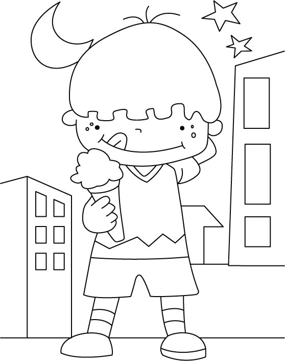 Best Ice Cream Coloring Pages