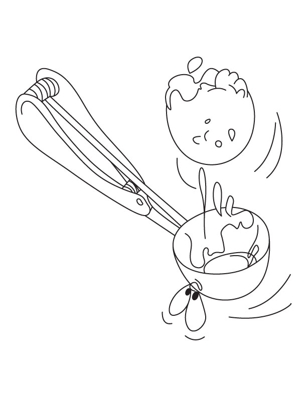 Ice cream scoop coloring page