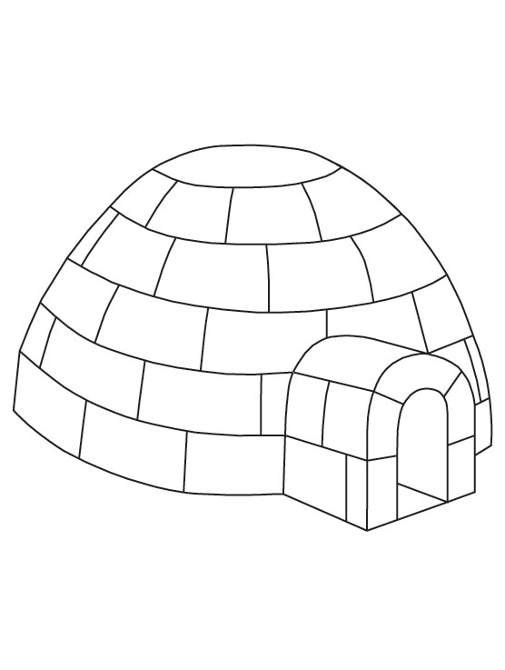 free printable igloo coloring pages - photo#4