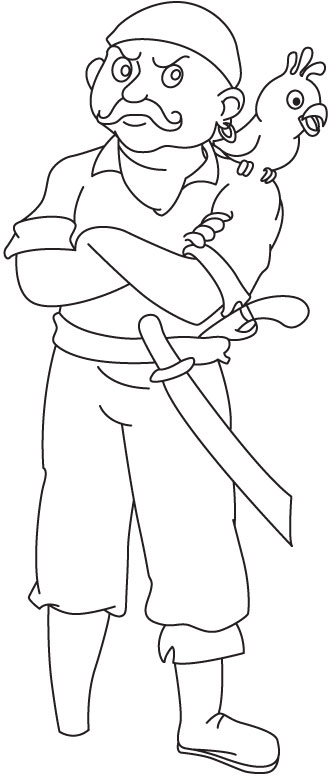 In pirates dress coloring page