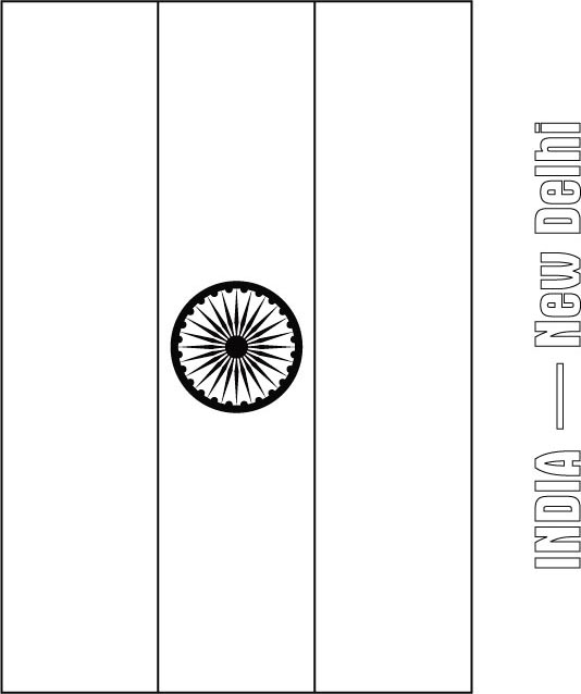 india flag coloring page