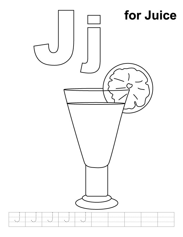 j for jug coloring pages - photo #28
