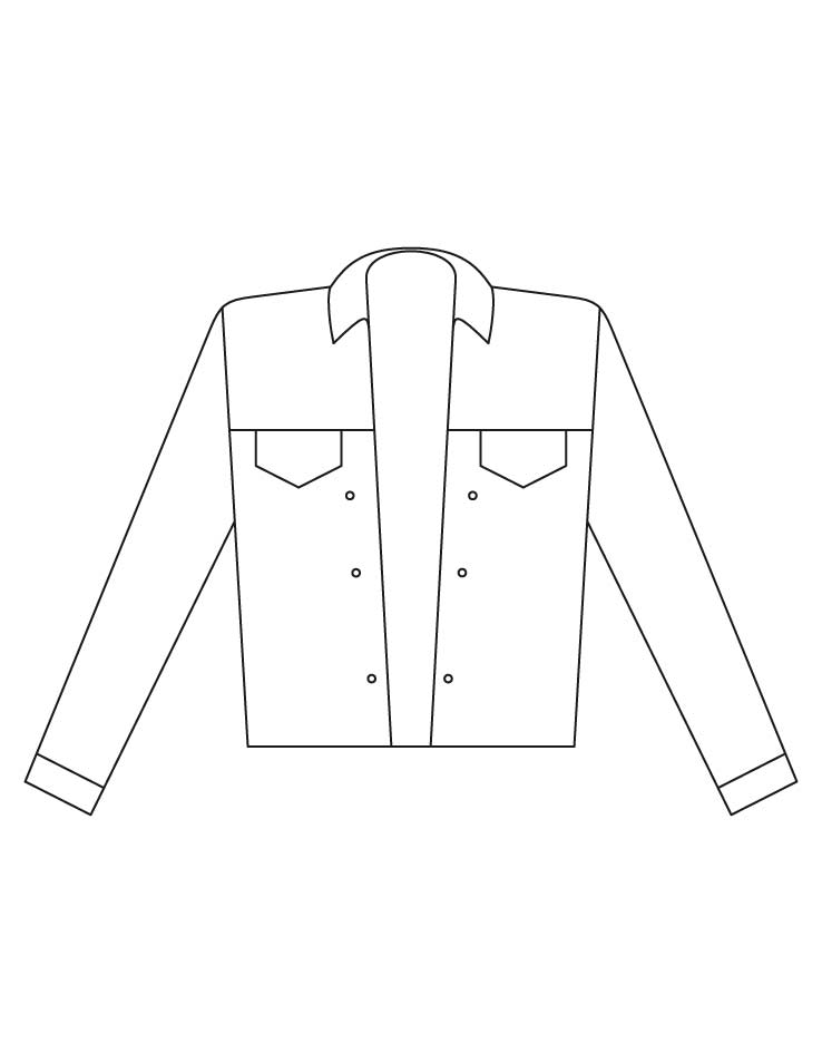 Jacket coloring pages
