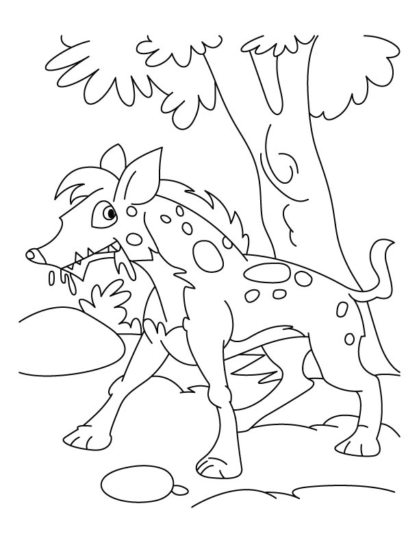 Handsome jackal coloring pages