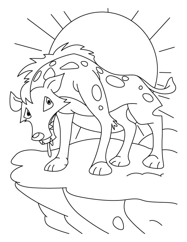 Tired jackal coloring pages